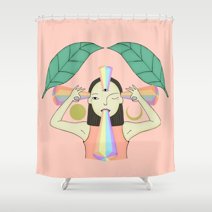 The woman who sees Shower Curtain