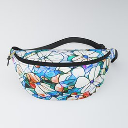 Glass stain mosaic 7 - flower, by Brian Vegas Fanny Pack