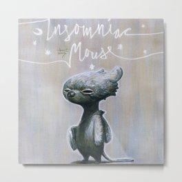 Insomniac Mouse Metal Print