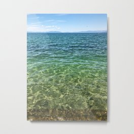 Keep Tahoe Ombre Metal Print