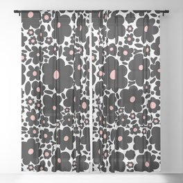 flower blobs 001 Sheer Curtain