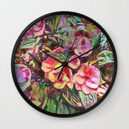 Beautiful Tropical Impatiens Wall Clock