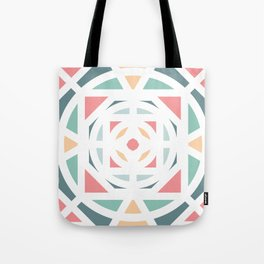 Pastel and shapes Tote Bag