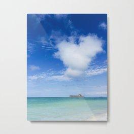 Heart Sea Beach - Hawaii Metal Print