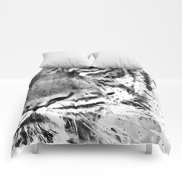 Black And White Half Faced Tiger Comforters
