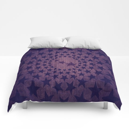Purple stars decorative pattern Comforters