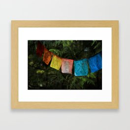 Synthetic Rainbow Framed Art Print