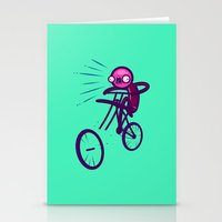 cycling Stationery Cards featuring Cycling Disaster by Artistic Dyslexia