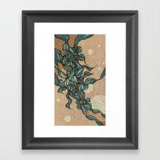 Waves #4 beige Framed Art Print
