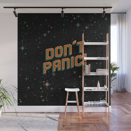 Don't Panic! Pixel Art Wall Mural