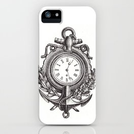 Anchor clock cell phone case iPhone Case
