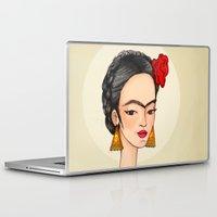 frida Laptop & iPad Skins featuring Frida by Renia