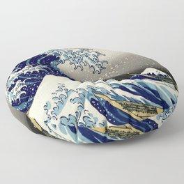 The Great Wave off Kanagawa Hokusai Floor Pillow