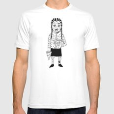 WEDNESDAY ADDAMS White MEDIUM Mens Fitted Tee