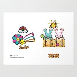 Plump Planet Friends Art Print