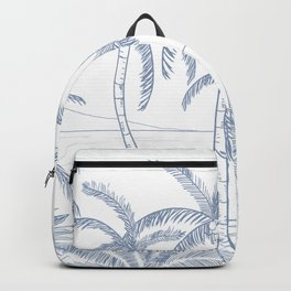 Blue Palm trees  Backpack