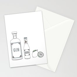 Gin tonic and lime illustration Stationery Cards