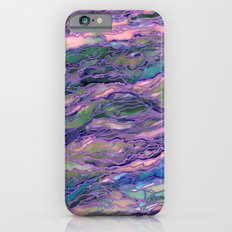 MARBLE IDEA! LAVENDER PINK PEACH Abstract Watercolor Painting Colorful Geological Nature Marbled Art iPhone 6s Slim Case