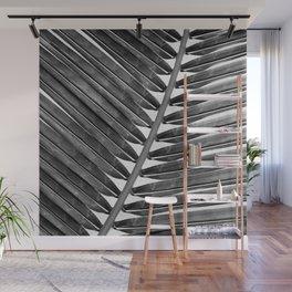 Palm Leaf 2 - Black & White Wall Mural