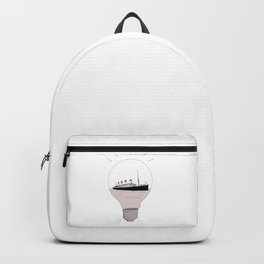 Ship in a light bulb . Backpack