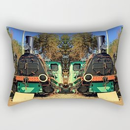 Historic steam train, abandoned | transportation photography Rectangular Pillow