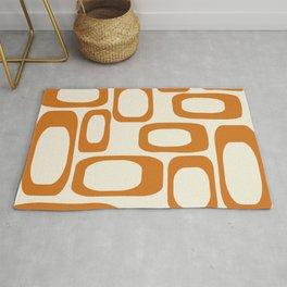 Mid Century Modern Shapes 1970s Orange #society6 #buyart  Rug