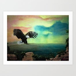 The Eagle has Almost Landed Art Print