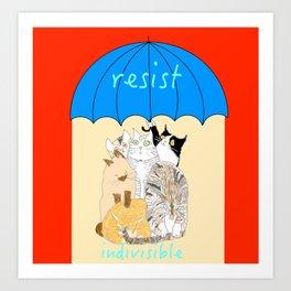 resist. indivisible Art Print