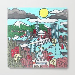 Seattle Daytime Metal Print