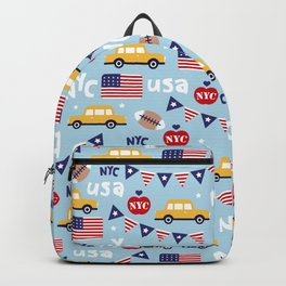 Made in the USA New York City icons pattern Backpack