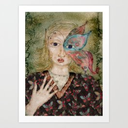 Butterfly Fae Art Print