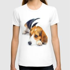 Beagle Bailey Womens Fitted Tee White X-LARGE