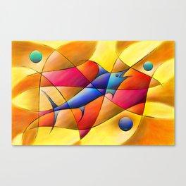 Perissia - colourful fossil Canvas Print