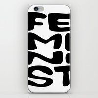 feminist iPhone & iPod Skins featuring Feminist by Bálint Magyar