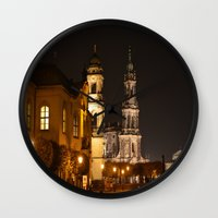 baroque Wall Clocks featuring Dresden Baroque  by DuniStudioDesign