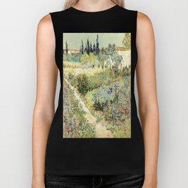Vincent Van Gogh : Garden at Arles Biker Tank
