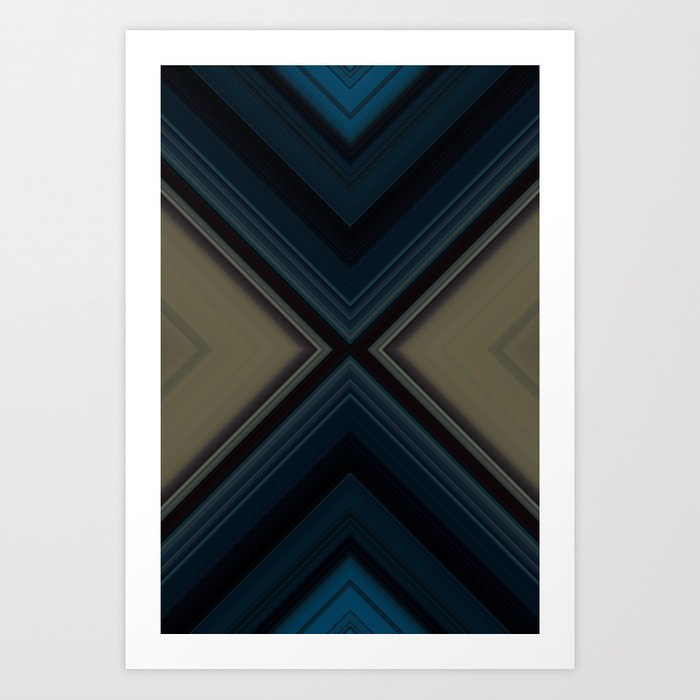 Blue Sarcophagus Art Print