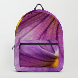 Purple Pansy Flower Close-up #decor #society6 #buyart Backpack