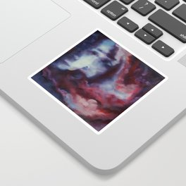 Melancholic Illusions - Abstract Oil Painting Sticker