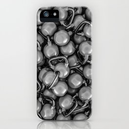 Kettlebells B&W iPhone Case