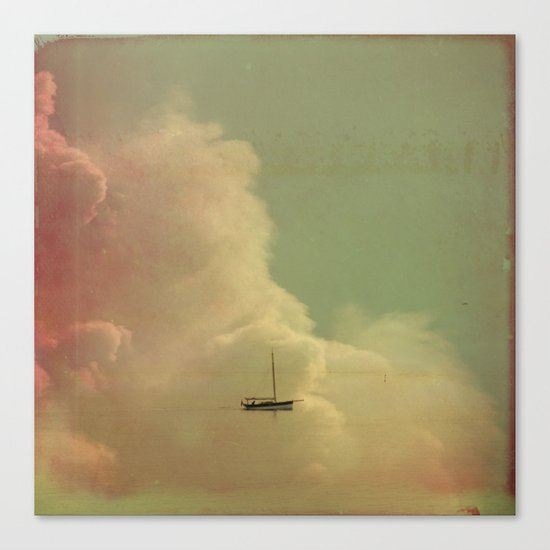 Once Upon a Time a Little Boat Canvas Print