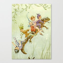 """The Pond Fairies"" by Margaret Tarrant Canvas Print"