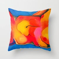 nudes Throw Pillows featuring Nudes: Atlas II by Adam James David Anderson