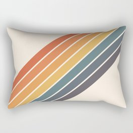Arida -  70s Summer Style Retro Stripes Rectangular Pillow