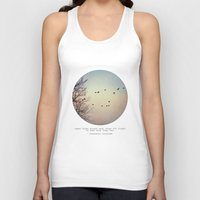 birds Tank Tops featuring Caged Birds by Tina Crespo