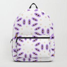 Purple, Beige, Yellow, Navy Pattern Backpack