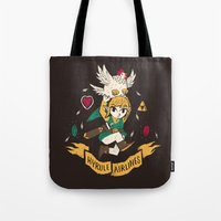 hyrule Tote Bags featuring hyrule airlines brown by Louis Roskosch