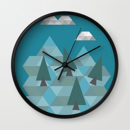 Low poly land Wall Clock