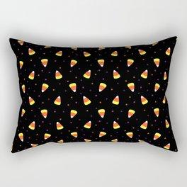 Halloween Candy Corn Pattern Rectangular Pillow