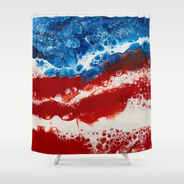 Patriotic Acrylic Shower Curtain